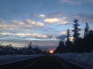 Driving from Mammoth to San Francisco chasing the sunset!