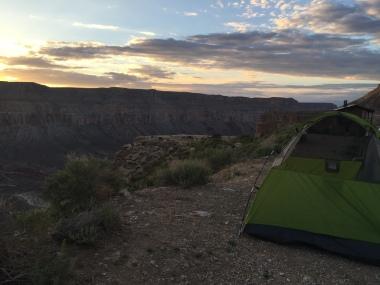 camping at the edge